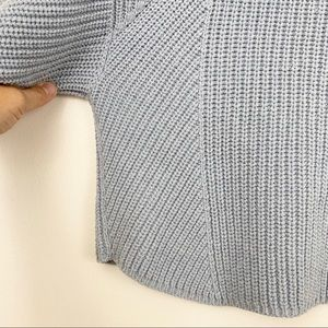 Free People Sweaters - Free People blue cotton blend sweater size M